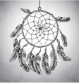 Indian Dream catcher vector image vector image