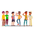 international characters buddies meeting vector image
