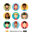 international man and woman people avatar icon vector image