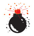 isolated pixelated bomb icon vector image