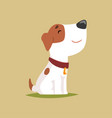 jack russell puppy character side view cute funny vector image vector image