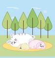 kawaii animal cartoon vector image vector image