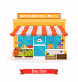 Local market Fruit and vegetables Farmers market vector image