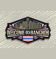logo for bangkok vector image
