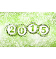 New year 2015 in green background Clip-art vector image vector image