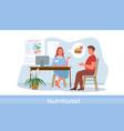nutrionist doctor examination conversation in vector image vector image