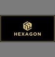 oa hexagon logo design inspiration vector image vector image
