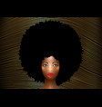 portrait african american woman afro curly style vector image vector image