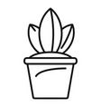 pot plant icon outline style vector image vector image