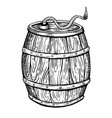 powder keg engraving vector image
