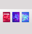 set colorful facet geometric covers vector image