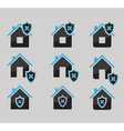 set of house protected icons vector image