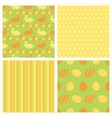Set of seamless Easter paper vector image vector image