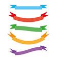 set vintage ribbons vector image vector image