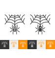 spiderweb simple black line halloween icon vector image