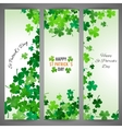 St Patricks Day banner set vector image vector image