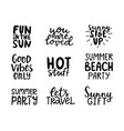 summer hand lettering collection on white vector image vector image