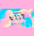 summer sale banner design in pastel color vector image vector image