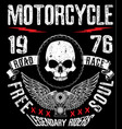 t-shirt or poster design with of a motorcycle vector image vector image