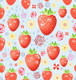 texture of a delicious strawberry vector image vector image