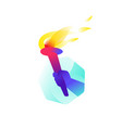 torch in hand flat flat image is isolated on vector image