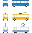 transport set color 01 vector image vector image