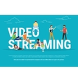 Video streaming concept vector image vector image