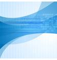Wavy blue tech design vector image vector image
