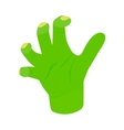Witchs green hand isometric 3d icon vector image vector image