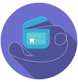 Flat design modern of dental floss icon with long vector image