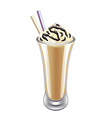 Frappe iced coffee isolated vector image