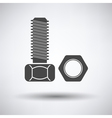 Icon of bolt and nut vector image
