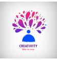 creative team imagination art logo man vector image