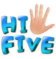 A hi-five artwork with a palm vector image