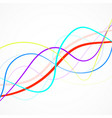 abstract colorful wave of lines vector image vector image