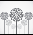 abstract tree design with hand vector image vector image