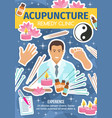 acupuncture remedy clinic spa salon and doctor vector image