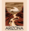 arizona hand drawn landscape desert isolated vector image