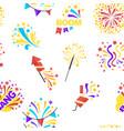 bang party and celebration holiday seamless vector image vector image