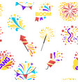 bang party and celebration of holiday seamless vector image vector image