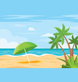 beach background with umbrella vector image vector image