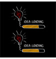 big idea with loading bar isolated on black vector image vector image