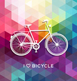 Bike concept poster bicycle love color background vector image
