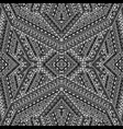 black and white ethnic motifs pattern vector image vector image