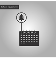 black and white style icon of school calendar vector image vector image