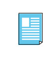 business document and company information vector image