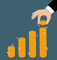 Business Hand Holding Coin vector image vector image