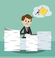 business man working and dreaming about money vector image vector image