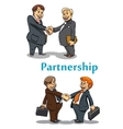 Businessman handshake and partnership