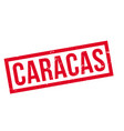 caracas rubber stamp vector image